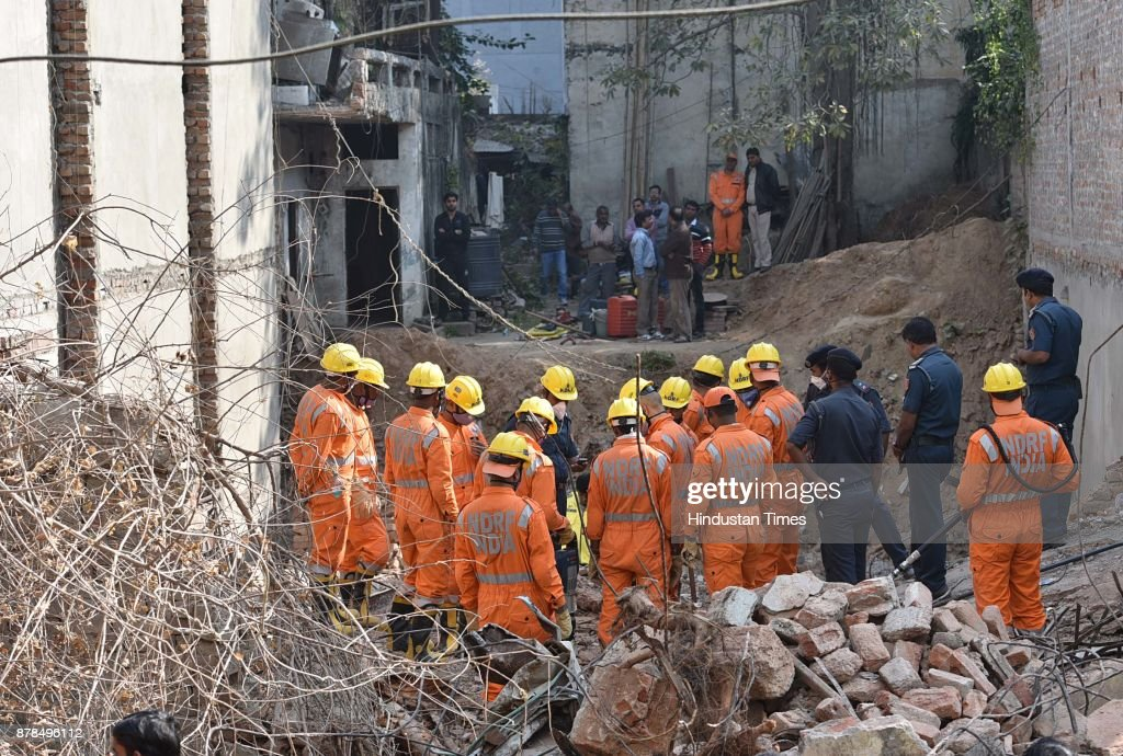 Two Die In Building Collapse At Delhis Taimoor Nagar