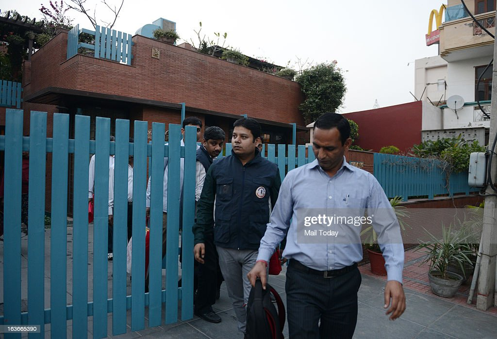 CBI officials take away documents after conducting a raid at the residence of former Air Chief Marshal SP Tyagi in Gurgaon on Wednesday in connection with the controversial AgustaWestland VVIP chopper deal.