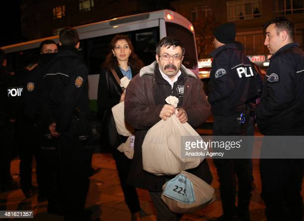 Officials took charge in local elections in Ankara of Turkey carry ballot papers to town election board after counting them on March 30 2014