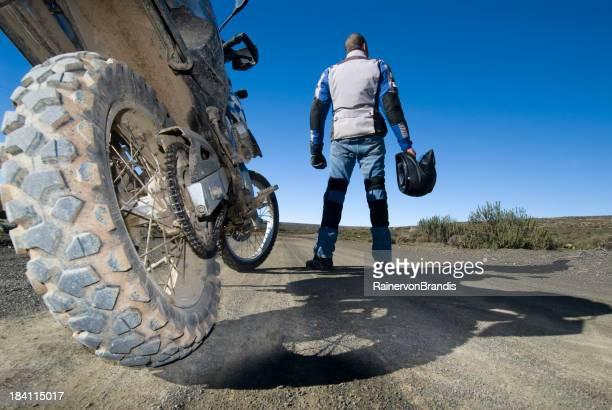 off-road-Motorrad Fahrt