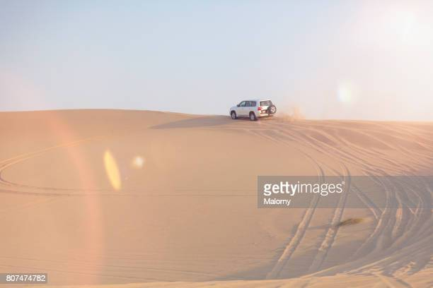 Off-road or 4x4 vehicle on a trip in the desert