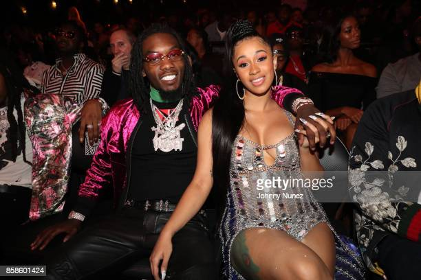 Offset and Cardi B attend the 2017 BET Hip Hop Awards on October 6 2017 in Miami Beach Florida