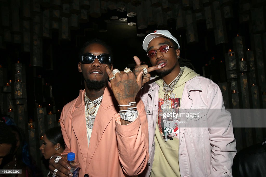 OffSet (L) and Quavo of Migos attend VIP Event Hosted By Migos on January 26, 2017 in New York City.