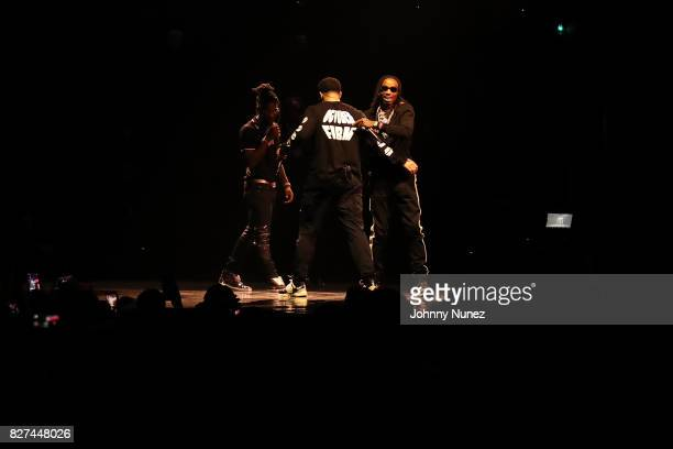 Offset Drake and Quavo Perform at OVO Fest In Toronto For Caribana 2017 on August 7 2017 in Toronto Canada