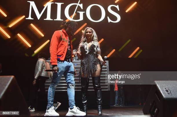 Offset of Migos and Cardi B perform onstage during 1051's Powerhouse 2017 at the Barclays Center on October 26 2017 in the Brooklyn New York City City