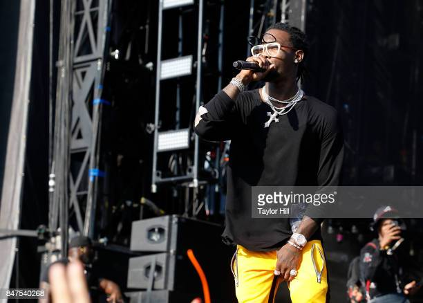 Offset of Migos performs onstage during Day 1 of The Meadows Music Arts Festival at Citi Field on September 15 2017 in New York City