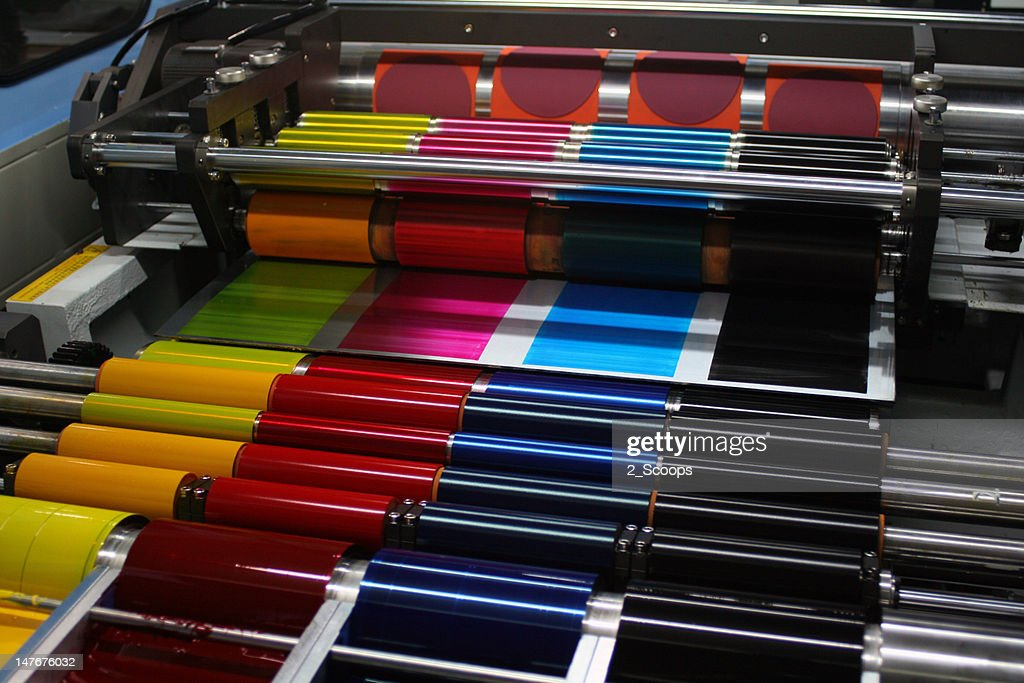 Offset Printing Press CMYK Ink Rollers