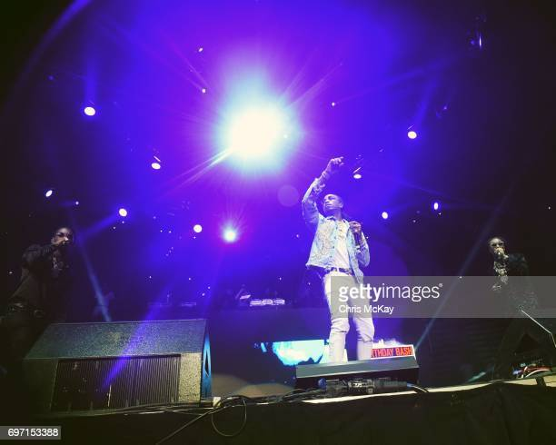 Offset Quavo and Takeoff of Migos perform at Philips Arena on June 17 2017 in Atlanta Georgia