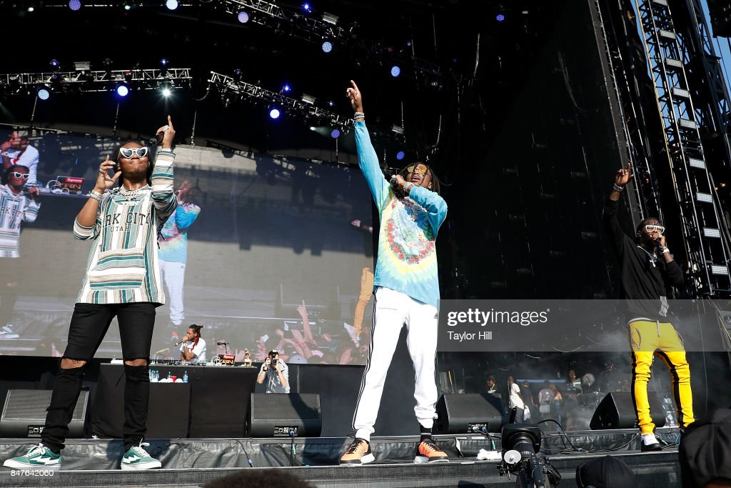 Offset, Quavo, and Takeoff of Migos perform onstage during Day 1 of The Meadows Music & Arts Festival at Citi Field on September 15, 2017 in New York City.