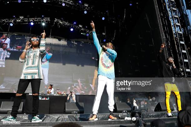 Offset Quavo and Takeoff of Migos perform onstage during Day 1 of The Meadows Music Arts Festival at Citi Field on September 15 2017 in New York City