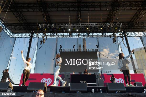 Offset Quavo and Takeoff of Migos perform onstage during the Daytime Village Presented by Capital One at the 2017 HeartRadio Music Festival at the...