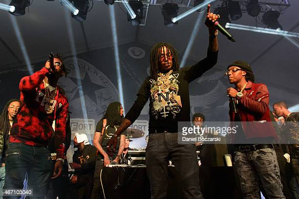 Offset Takeoff and Quavo of Migos perform at THE FADER FORT Presented by Converse during SXSW on March 20 2015 in Austin United States