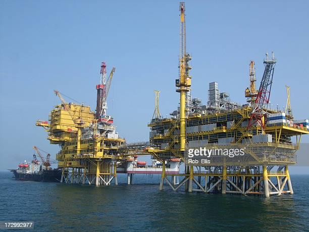 Offshore Oil Platform Complex