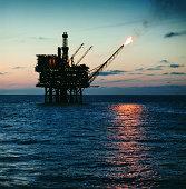 Off-shore oil rig