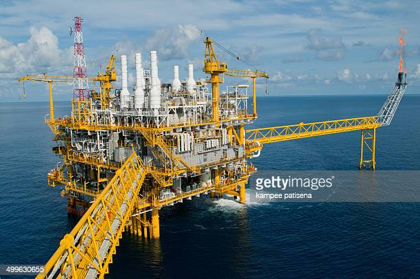 Offshore rig in gulf of Thailand