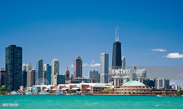 Offshore view of Navy Pier