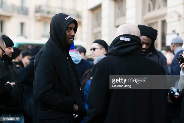 OffWhite Creative Director Virgil Abloh and Demna Gvasalia Vetements head designer and Balenciaga artistic director exit the Gosha Rubchinskiy show...