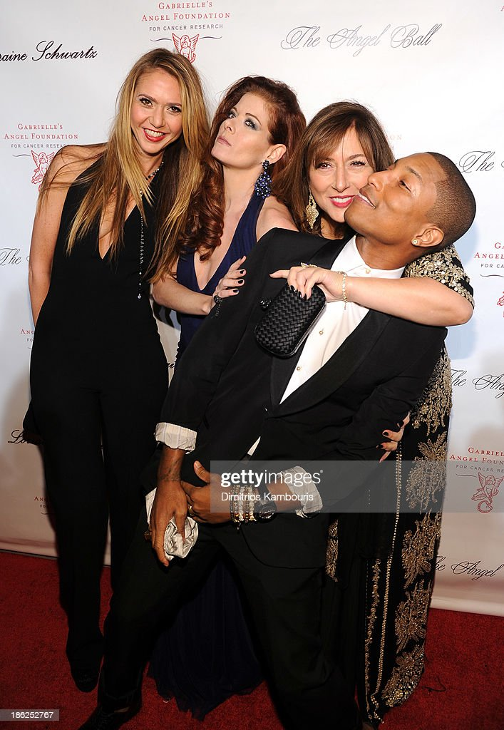Ofira Sandberg Debra Messing Lorraine Schwartz and Pharrell Williams attend Gabrielle's Angel Foundation Hosts Angel Ball 2013 at Cipriani Wall...