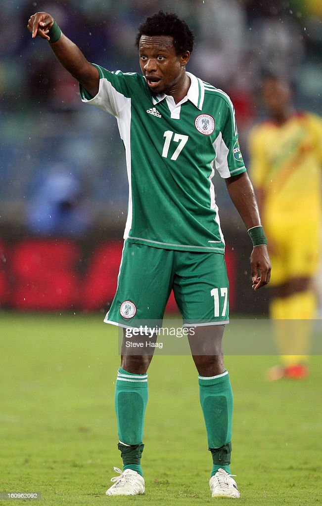 Ogenyi Onazi of Nigeria during the 2013 African Cup of Nations Semi-Final match between Mali and Nigeria at Moses Mahbida Stadium on February 06, 2013 in Durban, South Africa.