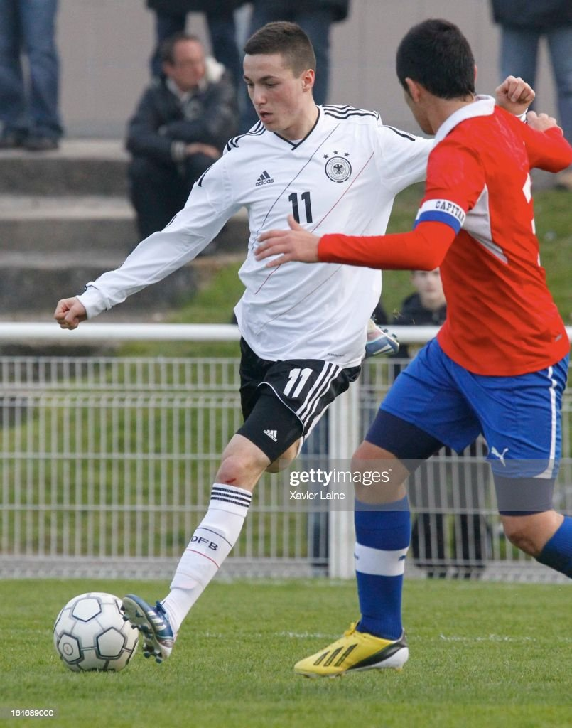 Oghuzan Aydogan of Germany during the International Friendly match between U16 Germany and U16 Chile on March 26, 2013 in La Roche-sur-Yon, France.