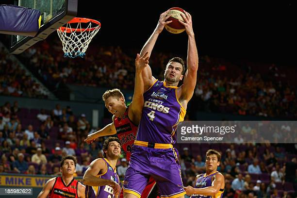 Ogilvy of the Kings takes a rebound during the round three NBL match between the Sydney Kings and the Perth Wildcats at Sydney Entertainment Centre...