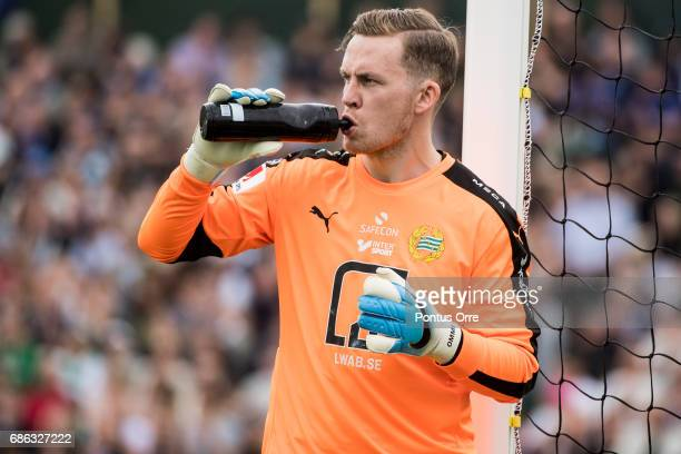 Ogmundur Kristinsson goalkeeper of Hammarby IF during the Allsvenskan match between IK Sirius FK and Hammarby IF at Studenternas IP on May 21 2017 in...