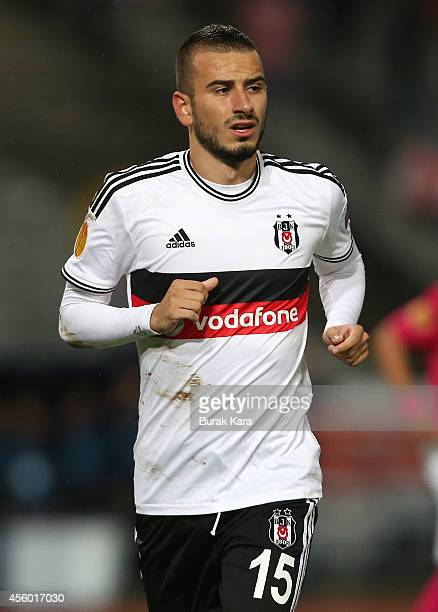 Oguzhan Ozyakup of Besiktas in action during the UEFA Europa League Group C match between Besiktas JK and Asteras Tripolis FC at the Ataturk Olympic...