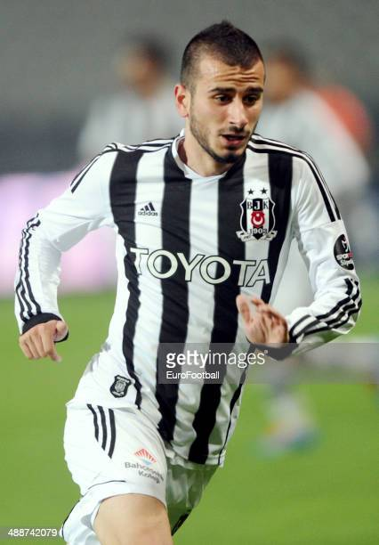 Oguzhan Ozyakup of Besiktas JK in action during the Turkish Super League match between Besiktas and Fenerbahce at the Ataturk Olympic Stadium on...
