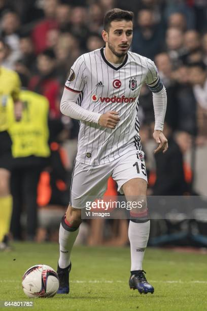 Oguzhan Ozyakup of Besiktas JKduring the UEFA Europa League round of 16 match between Besiktas JK and Hapoel Beer Sheva on February 23 2017 at the...