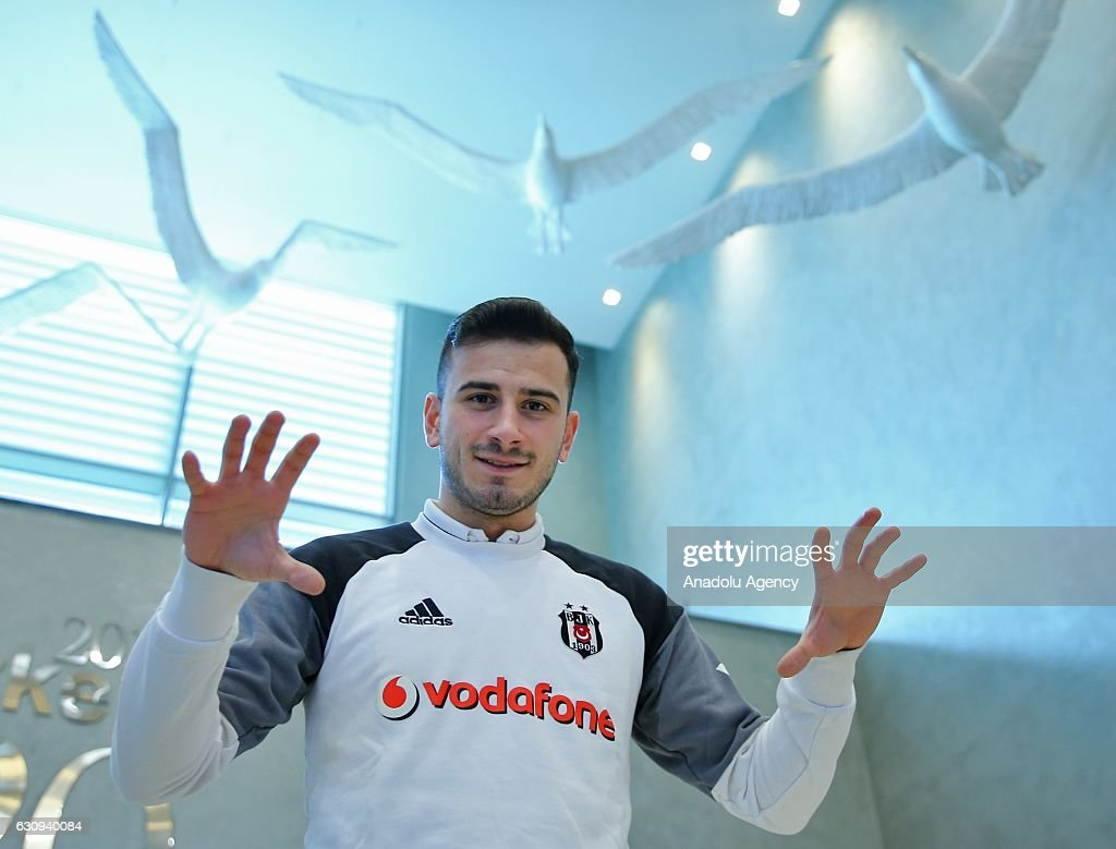 Oguzhan Ozyakup of Besiktas poses for a photo after a press conference at a hotel in Belek district of Antalya, Turkey on January 04, 2017.