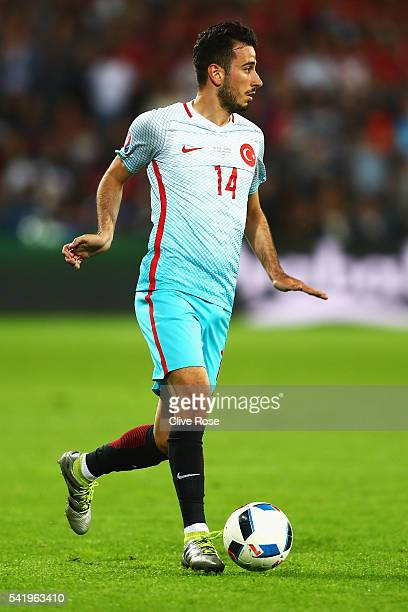 Oguzhan Ozyakup of Turkey during the UEFA EURO 2016 Group D match between Czech Republic and Turkey at Stade BollaertDelelis on June 21 2016 in Lens...