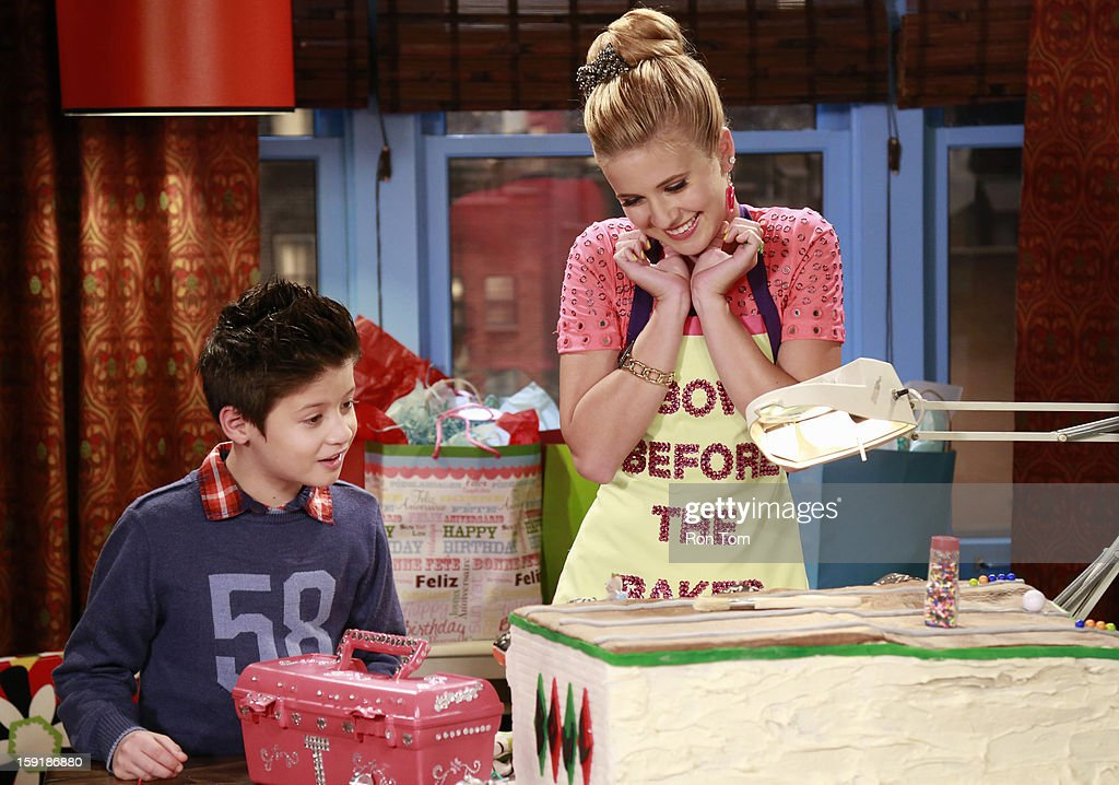 UP - 'Oh Brother It Up' - Rocky and CeCe get hired at Bob's Kabob's, where CeCe loses her job after she butts heads with the strict manager, Logan. Meanwhile, Georgia plans Jeremy's birthday dinner, and he is bringing over his son 'little scooter' for the first time. Guest starring Leo Howard as Logan. This episode of 'Shake It Up' airs SUNDAY, JANUARY 13 (8:30-9:00 p.m., ET/PT), on Disney Channel. DAVIS