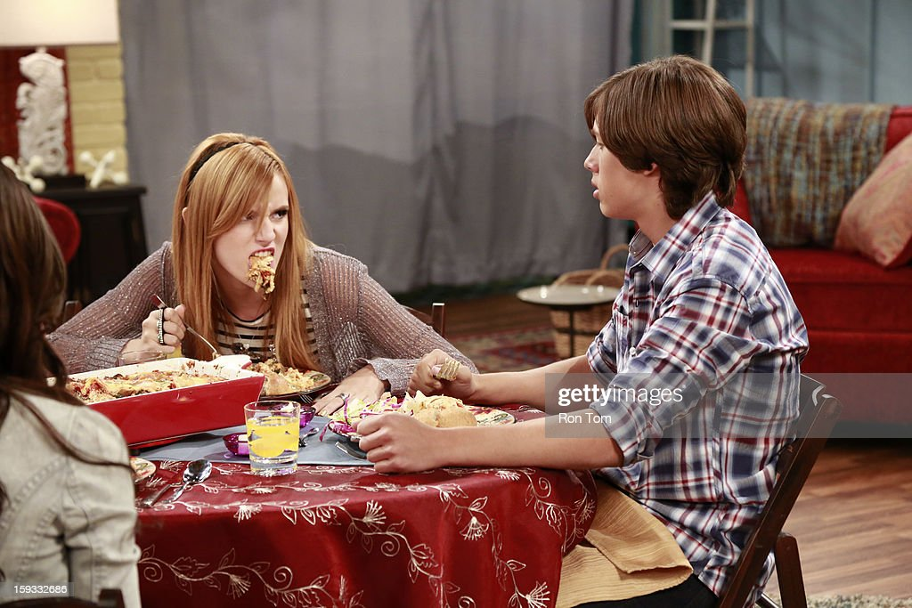 UP - 'Oh Brother It Up' - Rocky and CeCe get hired at Bob's Kabob's, where CeCe loses her job after she butts heads with the strict manager, Logan. Meanwhile, Georgia plans Jeremy's birthday dinner, and he is bringing over his son 'little scooter' for the first time. Guest starring Leo Howard as Logan. This episode of 'Shake It Up' airs SUNDAY, JANUARY 13 (8:30-9:00 p.m., ET/PT), on Disney Channel. BELLA