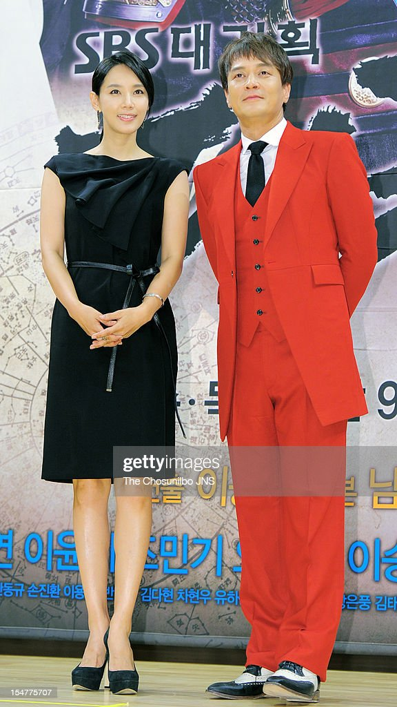Oh Hyun-Kyung and Jo Min-Ki attend the SBS Drama 'The Great Seer' Press Conference at SBS Building on September 26, 2012 in Seoul, South Korea.