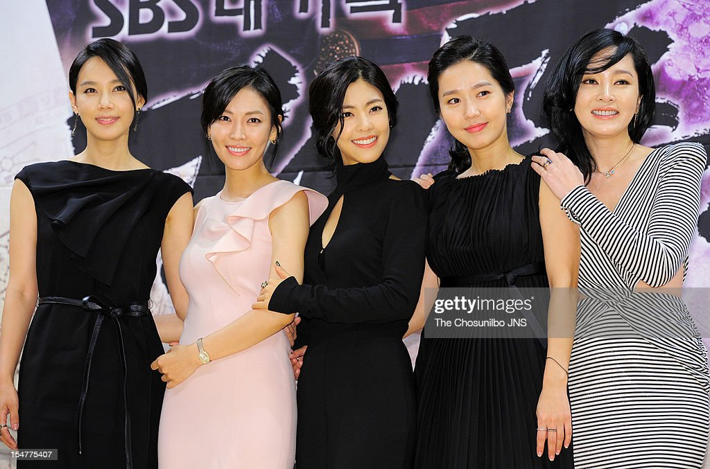 Oh Hyun-Kyung, Kim So-Yeon, Lee Yoon-Ji, Lee Jin, and Lee Seung-Yeon attend the SBS Drama 'The Great Seer' Press Conference at SBS Building on September 26, 2012 in Seoul, South Korea.