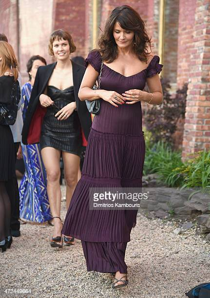 Oh Land and Helena Christensen attend the Original Music Workshop Spring Gala 2015at Pioneer Works on May 7 2015 in New York City