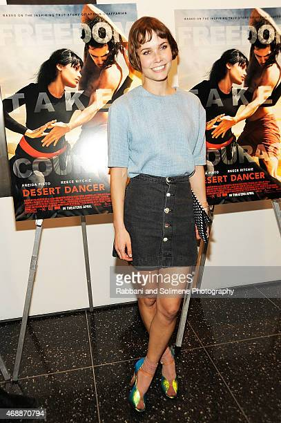 Oh Land attends a special screening of Relativity Studio's 'Desert Dancer' at Museum of Modern Art on April 7 2015 in New York City