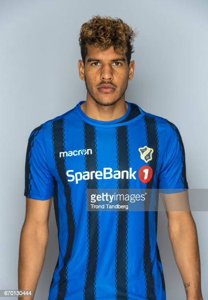 Ohi Omoijuanfo of Stabekk Fotball during Photocall on March 17 2017 in Oslo Norway