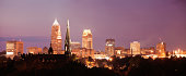 USA, Ohio, Cleveland, Cityscape at night