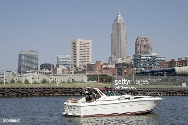 Ohio Cleveland Lake Erie Wendy Park Cuyahoga River City Skyline Yacht Boat