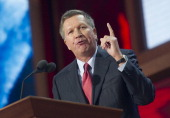 Ohio Gov John Kasich speaks at the 2012 Republican National Convention at the Tampa Bay Times Forum