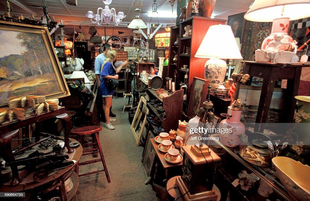 Ohio Lebanon Castiglione Antiques Couple Exploring Cluttered Shop