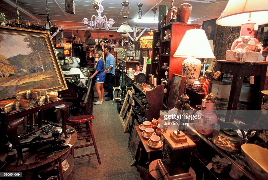 Ohio Lebanon Couple Exploring Cluttered Antique Shop