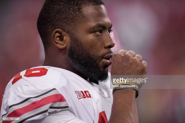 Ohio State Buckeyes quarterback JT Barrett on the sidelines during the Big 10 Championship game between the Wisconsin Badgers and Ohio State Buckeyes...