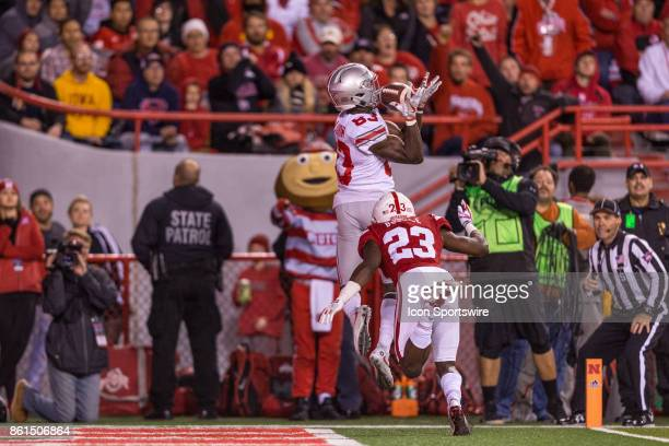 Ohio State Buckeyes wide receiver Terry McLaurin makes a catch for a touchdown against Nebraska Cornhuskers defensive back Dicaprio Bootle on October...
