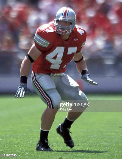 Ohio State linebacker AJ Hawk during 1613 victory over San Diego State at Ohio Stadium on September 2003