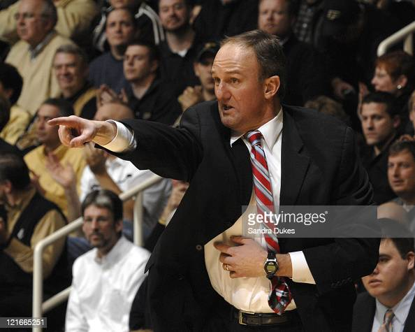 Ohio State's Coach Thad Matta during the game won by Ohio State 7860 in Mackey Arena in West Lafayette Indiana on January 31 2007