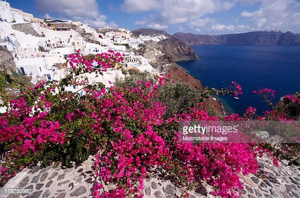 Oia su Santorini del gruppo delle Cicladi, Grecia