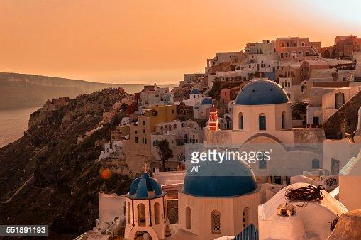 Oia sunset in Santorini