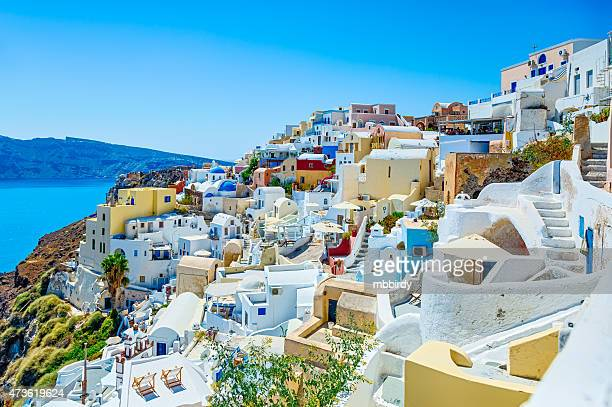 Oia (Ia) village on Santorini island, Greece